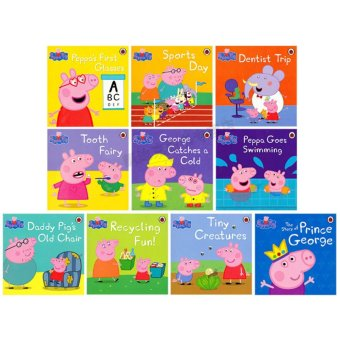 Series 3 Ladybird Peppa Pig Story Book Set - Early Education Enrichment English for 1-7 Years