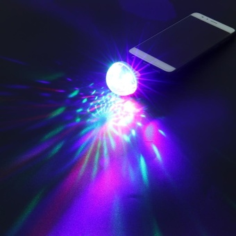 USB Mini RGB LED Disco Ball Shape Stage Party Club DJ Light - intl