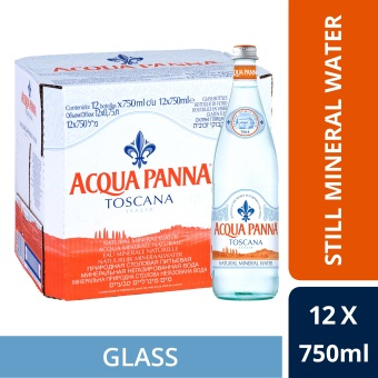 Acqua Panna Natural Mineral Water , 750ml Glass Bottle (Case of 12)