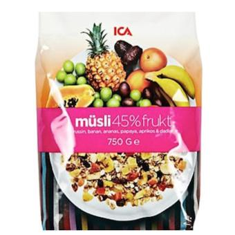 [ICA] CLEARANCE SALE Organic 45% Fruit Muesli 750g-Made in Swedish