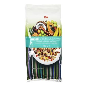[ICA] CLEARANCE SALE Swedish Organic 50% Fruit & Nuts Granola