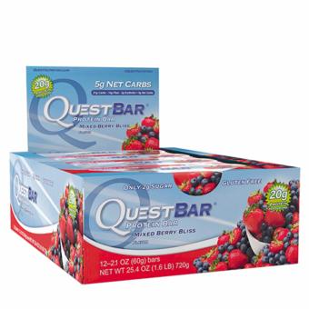Harga Quest Bars (12 Bars Per Box) - Mixed Berry Bliss