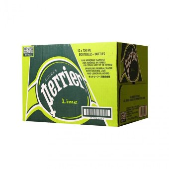 Harga Perrier Lime Sparkling Mineral Water 12 X 750ml