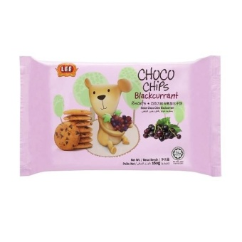 Harga Lee Choco Chips Biscuits with Blackcurrant (160g)