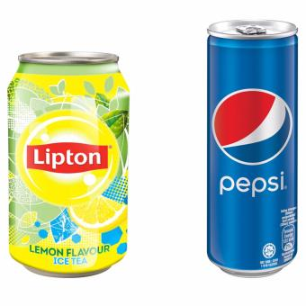 Harga Buy 1 Get 1 Free: Lipton Iced Tea 300mlx24cans and Pepsi 330mlx24cans