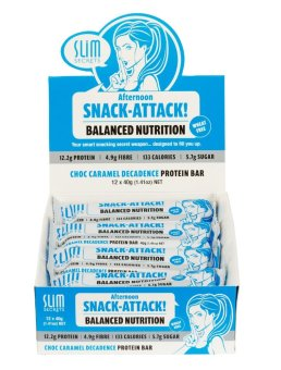 Harga Slim Secrets Afternoon Snack-Attack! Choc Caramel Decadence Protein Bar 40g - Box of 12