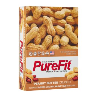 Harga PureFit Peanut Butter Crunch Nutrition Bar (15 bars per box)