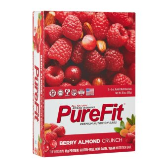 Harga PureFit Berry Almond Crunch Nutrition Bar (15 bars per box)