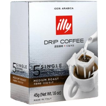 Harga Illy Drip-On Coffee Medium Roast 45g/box(5's) x 4 boxes