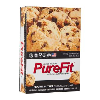 Harga PureFit Peanut Butter Chocolate Chip Nutrition Bar (15 bars per box)