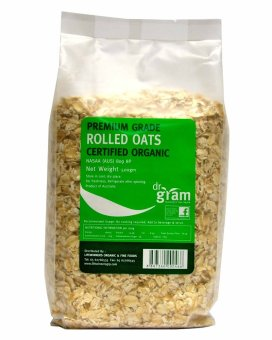 Harga Dr Gram Organic Rolled Oats 500g (3 Packets)
