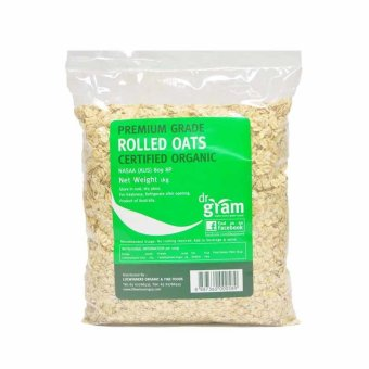 Harga Dr Gram Organic Rolled Oats 1kg (2 Packets)