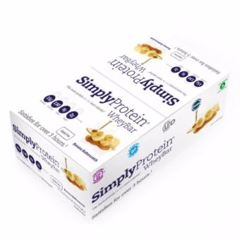 Harga Simply Protein Whey Bar Banana Butterscotch (12 bars per box)