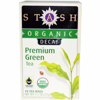 Harga Stash Tea, Organic, Premium, Decaf, Premium Green Tea, 18 Tea Bags