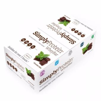 Harga Simply Protein Whey Bar Chocolate Mint (12 bars per box)