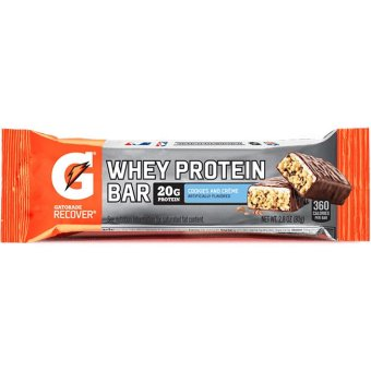 Harga Gatorade Whey Protein Recover Bars 20g Protein Cookies and Cream 12 Bar With Free Gift