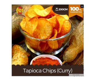Harga Foodee Tapioca Chips Curry (175g)