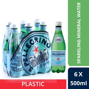 San Pellegrino Sparkling Natural Mineral Water, 500ml Plastic Bottle (Pack Of 6)