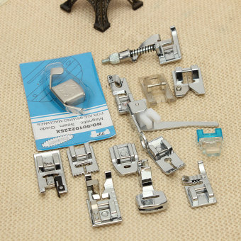 14Pcs Household Sewing Machine Presser Foot Feet Set For Brother Singer Janome - Intl