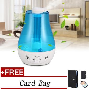 (Buy 1 Get 1 Free Gift) 3L Ultrasonic Humidifier Air Diffuser withLED Lamp (EU Plug) - intl