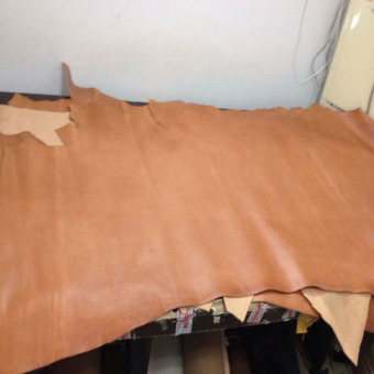 DIY light brown first layer of leather material oil wax Leather