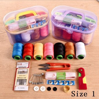 Home Universal Portable Sewing Machine Needle and Thread Package Hand Stitching Sewing Suite ᆪᄄRandom Color)-Size 3 - intl