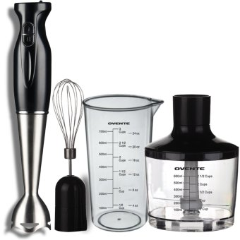 Harga Robust Stainless Steel Immersion Hand Blender with Beaker, Whisk Attachment and Food Chopper Black - Intl
