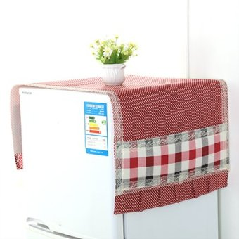 Harga Korean simple top cover refrigerator cover towel cloth top refrigerator storage bag dust cover lace cloth dust cover home