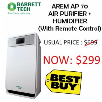 Harga Barrett Tech AREM AP70 AIR PURIFIER (6 Stage Filtration) + HUMIDIFIER (WITH REMOTE CONTROL)
