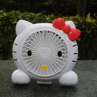 Harga Hello kitty cute cat desktop desktop shift office mute usb small fan student fan rechargeable fan