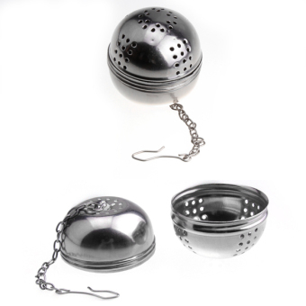 Harga Stainless Steel Teakettles Infuser Strainer Egg Shaped Tea Maker (Silver)