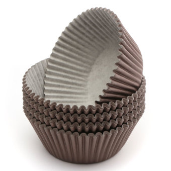 Harga 100pcs Cake Cupcake Liner Case Wrapper Muffin Dessert Baking Cup Wedding Party Brown - intl