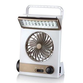 Harga Solar rechargeable fan student dormitory portable small fan mini fan desktop small fan summer cool