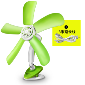 Harga US poetry children small fan mini Student Dormitory bedside fan office desktop clip fan electric fan household mute