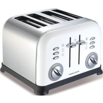 Harga Morphy Richards Accents Four Slice Toaster - White