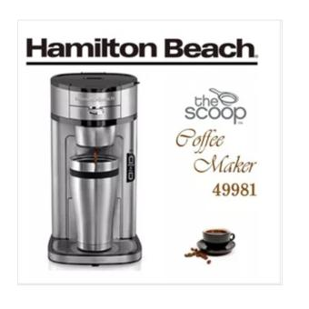 Harga Hamilton Beach 49981 The Scoop Single Serve Coffee Maker Stainless Steel kitchen coffee machine - intl