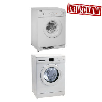 Harga Elba EWF1073A Washer 7kg and EBD602S Tumble Dryer COMBO 6kg