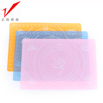 Medium and small number of positive baking silicone baking mat fondant mat hot pad antiskid surface pad kneading dough