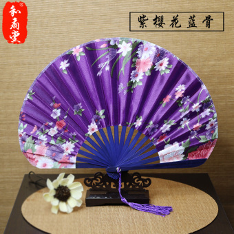 Harga Church craft gift fan japanese style female fan silk fan folding fan and wind sword fan round fan