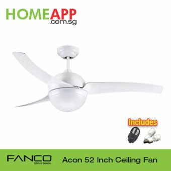 Harga Fanco Acon 52 Ceiling Fan with Light and Remote (White)