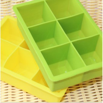 Harga Good Service Large Ice Cubes Six Grids Ice Cubes Ice Cream Ice Mold Ice Box - intl