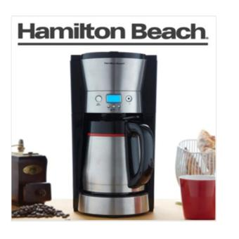 Harga Hamilton Beach 46896 10 Cup Coffee Maker with Vacuum Stainless Thermal Carafe Black - intl
