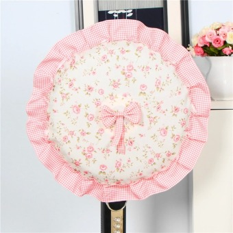 Harga New electric fan cover fan cover fan cover dust cover lace cloth floor round