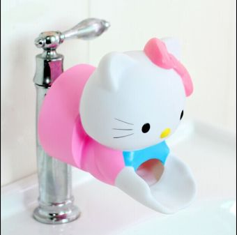 Harga Korea cute KITTY cartoon baby child chute auxiliary faucet extender extender