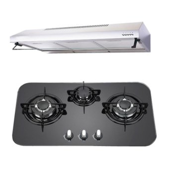 Harga EF 3 Burner Hob and Hood package (Black)