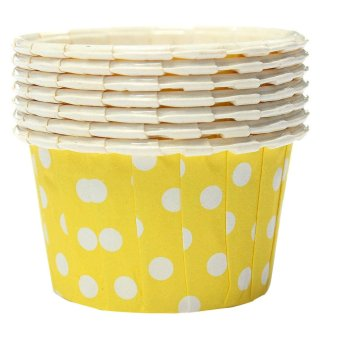 Harga 100X Cupcake Wrapper Paper Cake Case Baking Cups Liner Muffin (Yellow) - Intl
