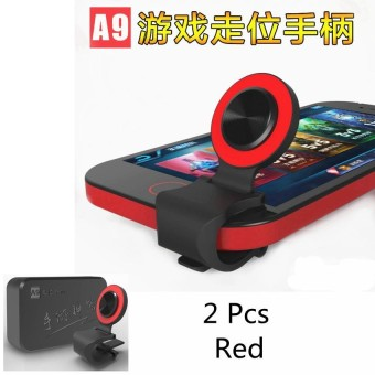 2pcs Mobile Phone Joystick Smartphone Mini Touch Screen Joystick Universal Clip-on Clamp for Phone Tablet Arcade Game joystick(Red) - intl