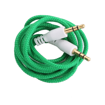 3.5mm Jack AUX Auxiliary Cord Male to Male Stereo Audio Cable Dark Green