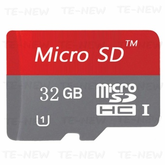 32GB Class 10 Micro memory SD card with Adaptor (Red) - intl