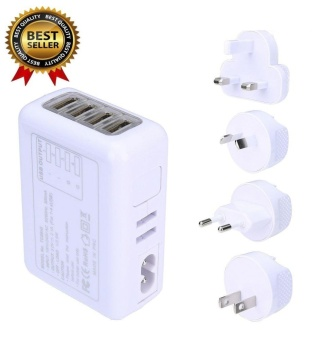 4 USB Ports AC Universal Travel Wall Adaptor Charger With 4 AC Adapter Fast Charge - intl